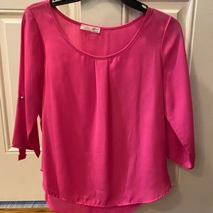 Hot pink blouse!